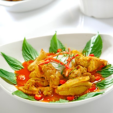 Braised Chicken with Dry Curry