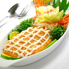 [51] Deep Fried Chicken with Prawn Meat Mayo & Lemon Sauce