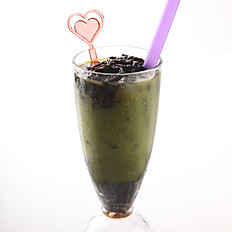 [122] Ice Green Tea with Grass Jelly