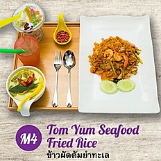 M4 - Tom Yum Seafood Fried Rice + Green Curry Chicken Soup Set Meal