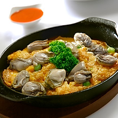 Hotplate Omelette with Oyster
