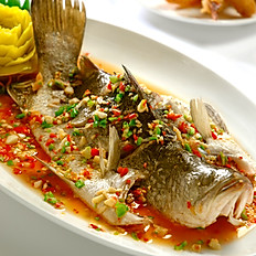 Steamed Seabass with Spicy Lemon Sauce