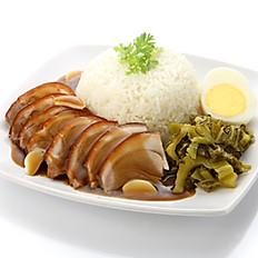 Pork Leg with Rice and Egg