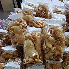 Pork Rinds - Cab Moo แคบหมู (Pork Skin) Large Bag