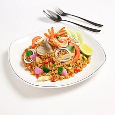 Tom Yum Seafood Fried Rice (Optional Chicken/Pork/Beef)