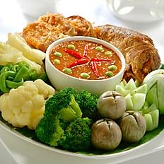 Assorted Vegetables with Thai Sambal Balachan