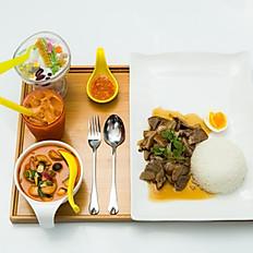 Pork Leg with Rice & Egg