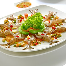 Raw Prawn with Garlic & Thai Chilli Sauce