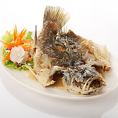 Deep Fried Seabass with Thai Fish Sauce