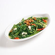 Kangkong with Bean Paste & Chilli