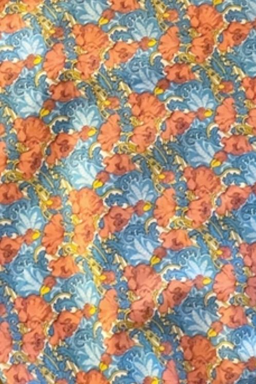 Liberty amapolas naranja y azul