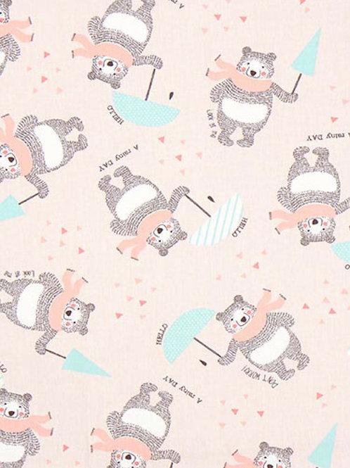 Ranita Ana osos y paraguas rosas
