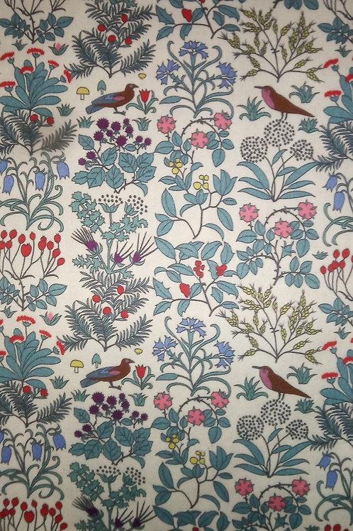 Ranita Santi hojas y pájaros azul