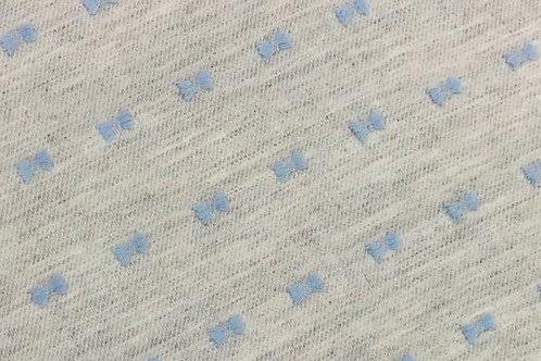 Viyela gris plumeti azul