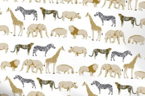 Animales beige y negro