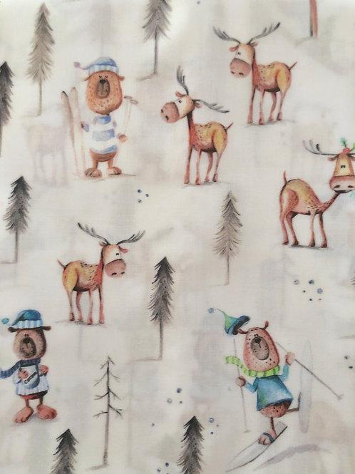 Ranita Ana osos esquiando