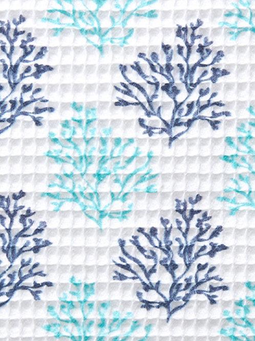 Corales azul marino y verde