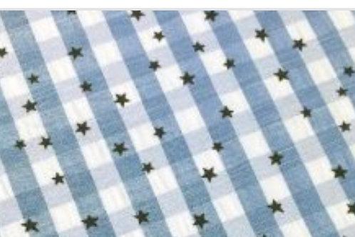 cuadros y estrellas azul
