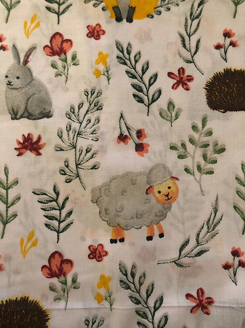 Ranita Santi conejos erizos ovejas zorros y flores