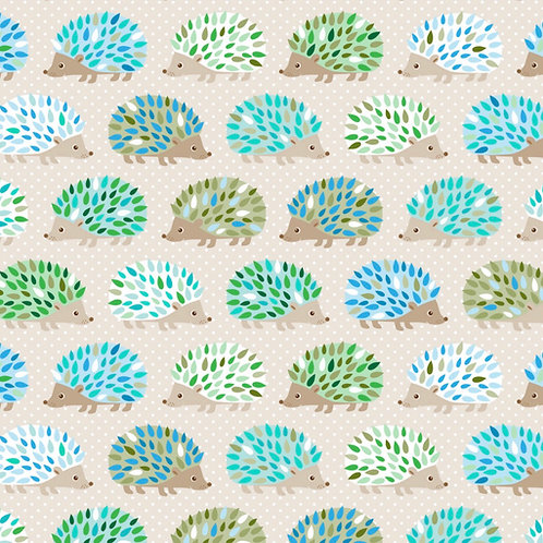 Ranita ana Erizos verdes y azules