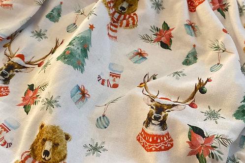 Ranita ana ciervos y osos navideños