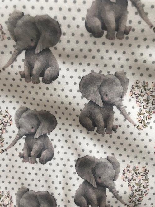 Ranita Santi tipo lana elefantes y flores