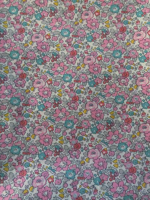 Flores rosa y verde mar pequeñas