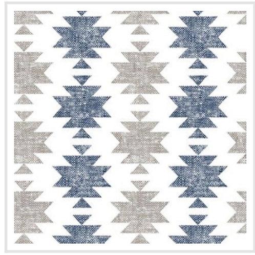 Ranita Santi etnica azul y gris