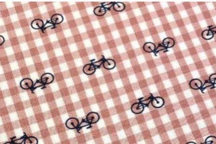 Ranita ana cuadros y bicis rosa