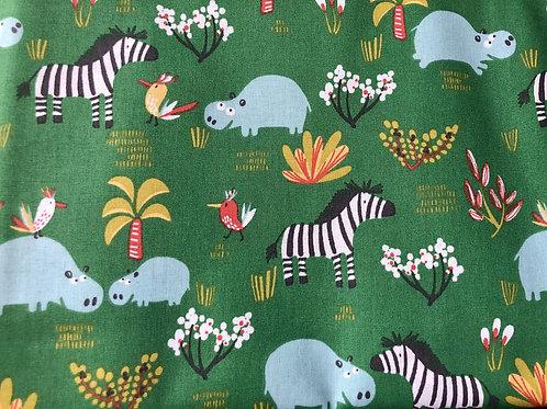 Hipopótamos y cebras