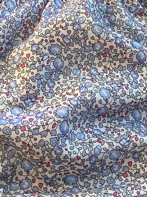 Ranita Ana Flores pequeñas azul gris y rojo