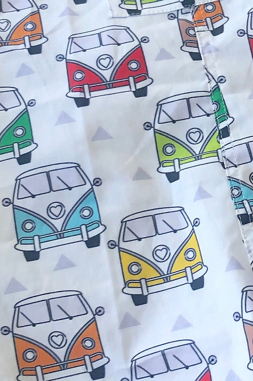 Ranita santi furgonetas de colores de frente