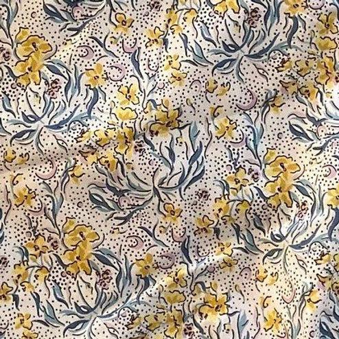 Ranita ana flores mostaza y puntitos