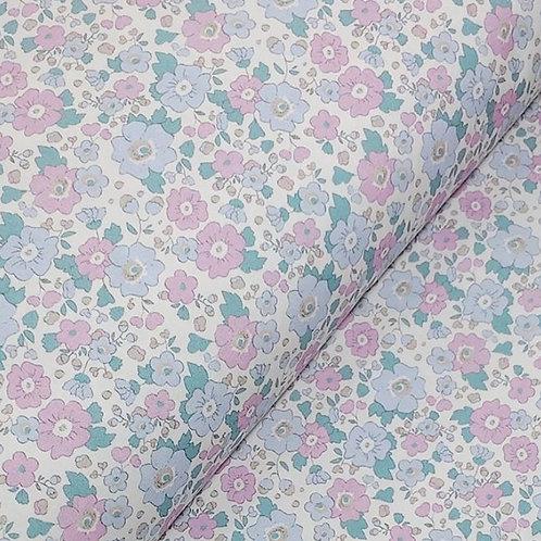 Ranita Santi Flores rosa y azul pastel