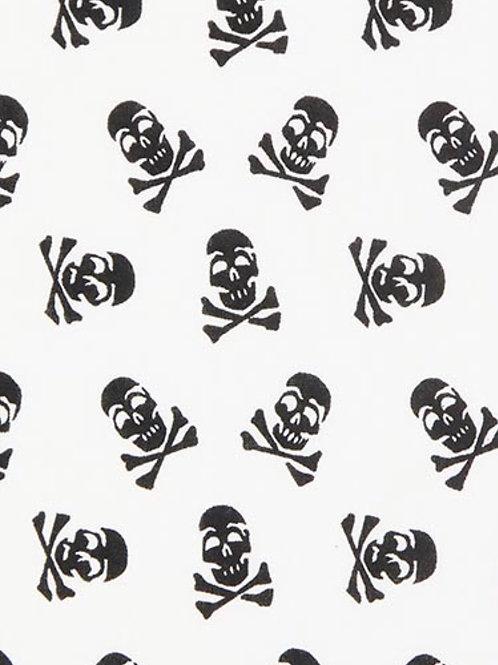 Ranita Santi calaveras negras fondo blanco