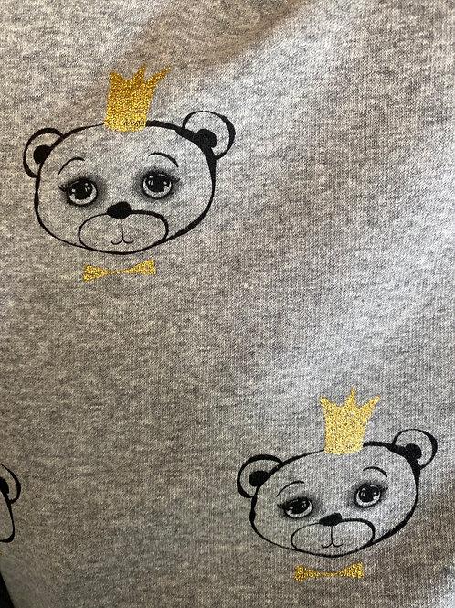 Ranita Santi osos con corona fondo gris