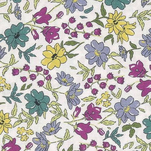 Ranita ana flores mostaza gris y verde