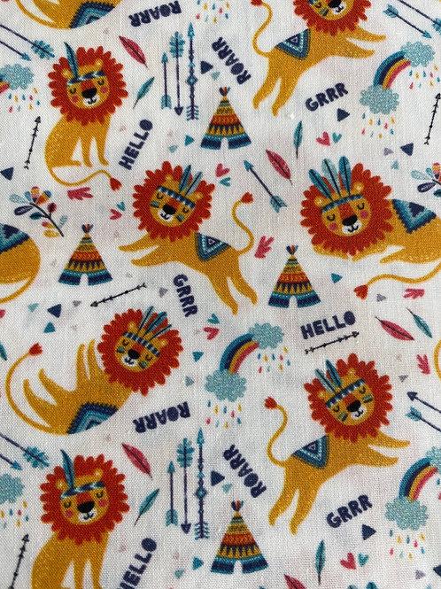 Ranita Santi leones indios fondo blanco