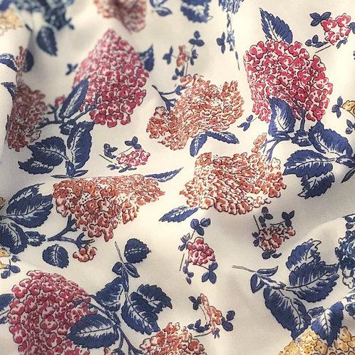 Ranita Ana Hortensias azul, mostaza y rojo