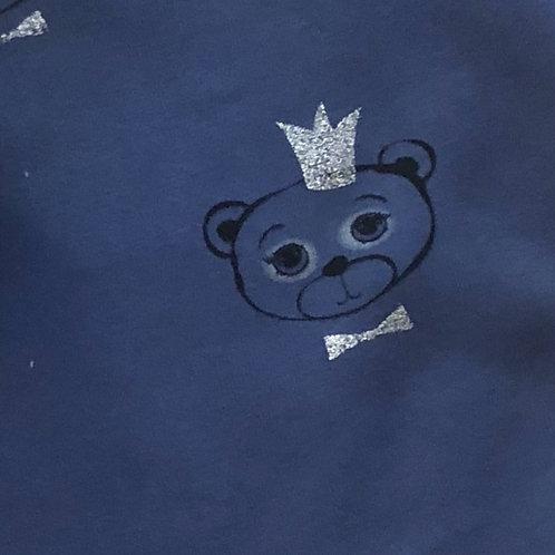 Ranita Santi Osos con corona fondo azul