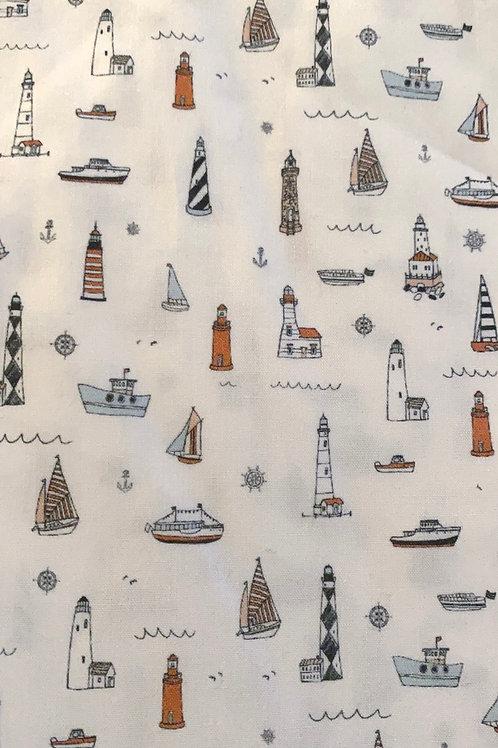 Ranita ana barcos y faros pequeños
