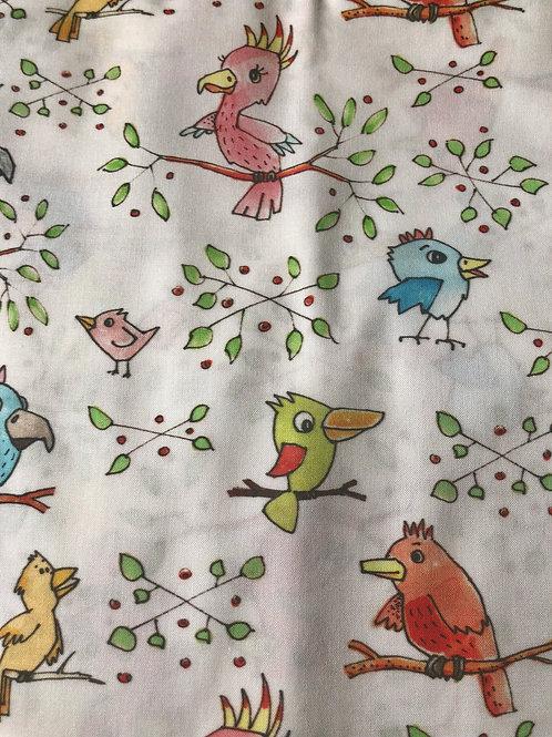 Ranita Ana pájaros y hojas