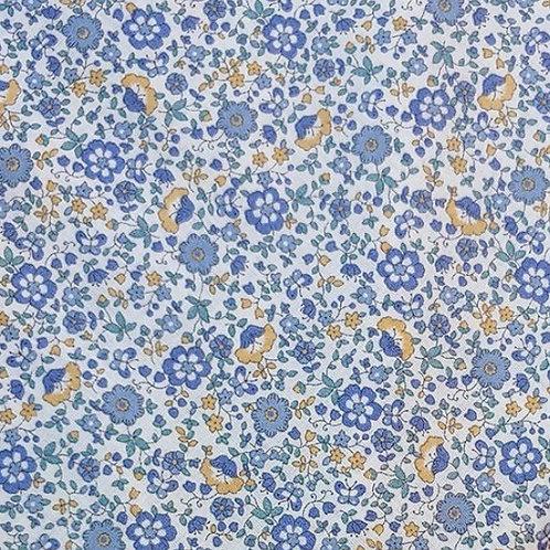 Florecitas azul y mostaza