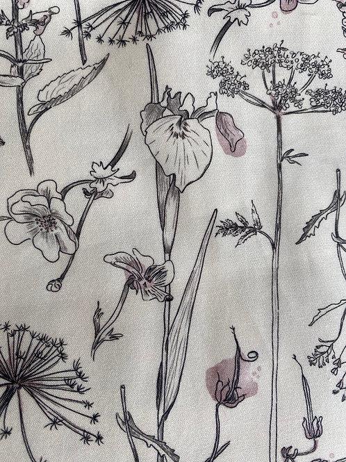 Ranita Ana flores grises y rosa