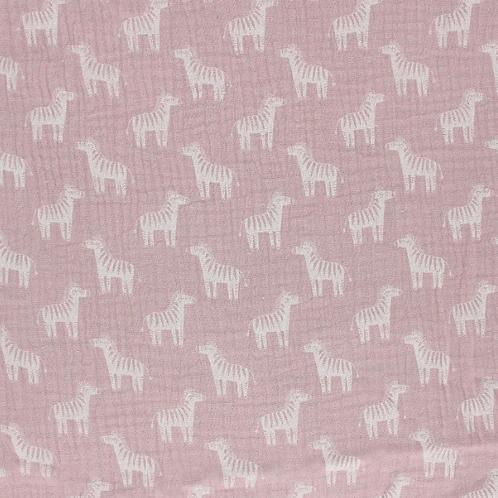 Cebras fondo rosa