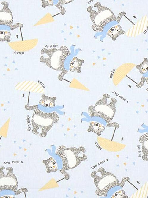 Ranita Santi osos y paraguas azul