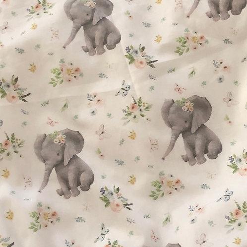Ranita Diego elefantes y flores pequeños