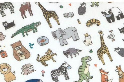 animales con mascarilla