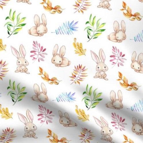 Ranita Ana conejos y hojas de colores