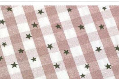 Ranita ana cuadros y estrellas rosa